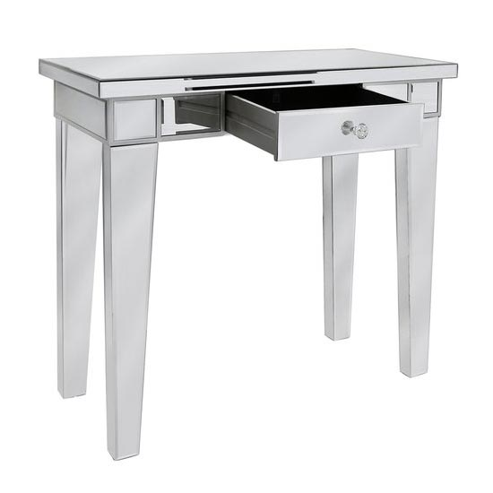 ... Silver U0026 Mirror Hall Table